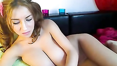 Nice boobs on a young cam model