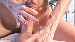 wife handles his cock with power_480p