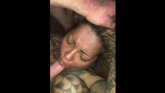 Ebony MILF with Big Tits gets Choked, Tit Fucked and Facialed. Vid for Sale