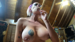 Chassidy Lynn - Smoking MILF POV Sex, Cowgirl Sex with Huge CREAMPI