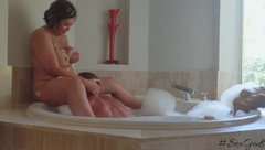 Honeymoon Suite Jacuzzi Sex with a very Public View - Hashtagsexgods