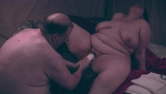 FAT DADDY STRETCHING BUSTY BBW BUCKET CUNT WITH FIST AND BIG DILDOS