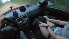 Young Girl Hitchhiker Fucks A Stranger for A Free Ride!
