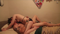 Young Petite Goth Chick Films first Porn