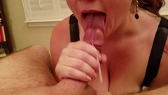 POV French Maid gives Perfect Blowjob
