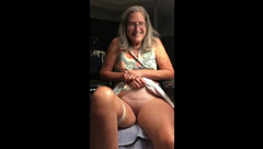 Hot MILF gets her Exercise in gives us A little Show Granny Mature GILF