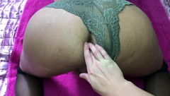 Trans Bisexual Pegging Couple, Wife Fucks Husband, Anal Male Orgasm