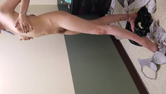 School Girl Strips, Showers, and Masturbates till she Squirts