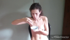 """Live Sex Theater. Day 2: """"biscuit with Sperm - best Breakfast"""""""