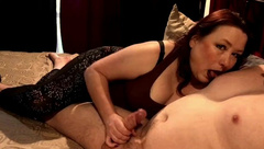 My Awesome Hot MILF Wife gives Epic Handjob and Nipple Teasing Session