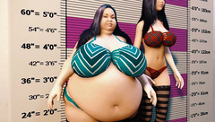 Big Belly Teen Grows Huge! Weight Gain Belly and Breast Expansion