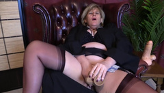 white chubby milf changing clothes on the road