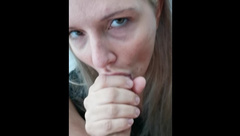 Nice Blowjob, with MESSY Cumshot, CUM PLAY and every Drop SWALLOWED!