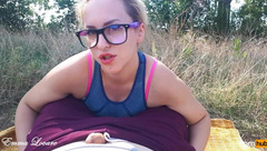 I will make you Cum in Me! POV by Emma Lovare OutDoor Sex