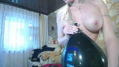 Loners Welcome! Blonde and Black Balloon