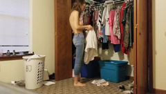 OMG I Finally get to see my Step Sister's Perfect Tits!! Real Spycam!!