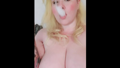 Smoke with BELLA BELLY!! and Watch her Play with her Huge Tits!