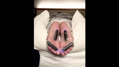 PART 2: Tickle Slave's Soft Soles, Oiled & Tickle Tortured Bullet Vibrators