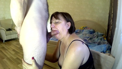 Stepmom gives Blowjob to Son & gives a Fuck in the Ass. Mom Anal Stepson