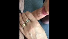 Mom gives Son a Blowjob, Son Cum's on Mom's on Tits
