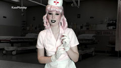 Goth Nurse Joy gives you a Prostate Exam