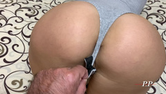 Wife with a Big Ass Cheating on her Husband, Fucks at the Guy's House