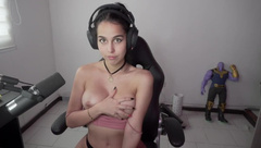 Horny Teen Showing her Tits