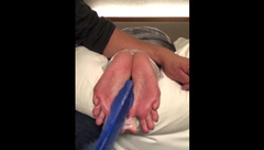 PART 1: Tickle Slave's Soft Soles, Oiled & Tickle Tortured Feathers