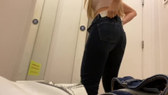 Dressing Room Hidden Camera Catches Young Teen Changing