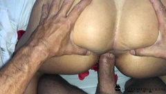 Wiggling till he Cums on my Ass and keep Fucking me