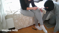 Foot Domination with Dog Slave - by Mistress Milla