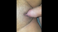 Rubbing my Wet Clit with a Real Dick while in my Parents House (quietly)