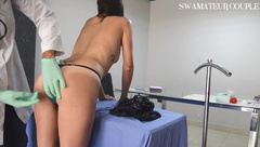 NEW GYNO DOCTOR NEW COMPLETE VAGINAL AND ANAL EXAM - SWAMATEURCOUPLE