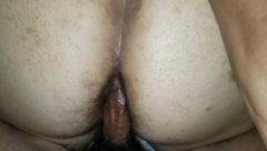 Hairy Mixed BBW Teen Fucked in Ass from behind by BBC