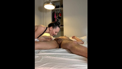 Teen StepSister Fucks StepBrother and Leaves Pussy Cream at the Scene