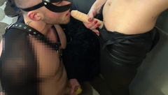 I Fuck him in the Mouth with a Strap-on in Cum