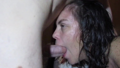-TEASER- a QUICK LITTLE DEEPTHROAT FACEFUCK AFTER MY SHOWER