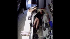 Managed to Masturbate until her Partner Came. Hidden Camera
