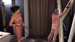 Latex Governess Abuses her Whipping Boy Ft/ Mistress Lucy Khan