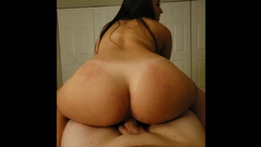 Hot Asian Girl Riding Dick and getting Bent over