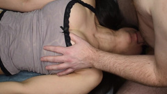 Amateur first Time Throat Bulge Caught on Camera! - Hidden Kitten