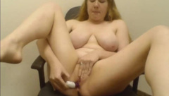 College Stoner Girl Cum Show In Conference Room