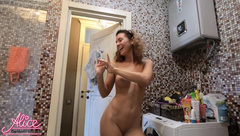 Sexy Babe Washes Hands and Dances Naked #SCRUBHUB