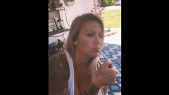 Jessa Smokes for the Camera and Plays with her Tits