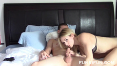 Haley Ryder stepsister sucks and fucks brother on cam