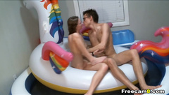 Couple  in their Indoor Pool