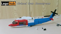Long and Hard Lego Helicopter Flying in the Vina Sky
