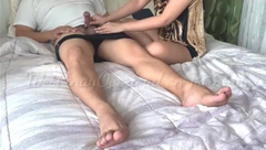 Pinay Step Mom Fuck and Creampied by her Son's Friend
