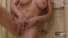 Big Boobs Babe Sensual Masturbate Pussy in the Bathroom - Solo
