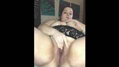 BigPrettyBrunette Pink Dildo with Squirting: SHAVED